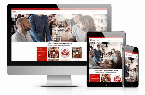 cms website voorbeeld enjoy and give