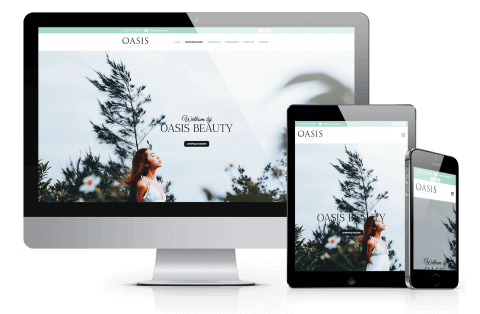 website voorbeeld oasis-beauty